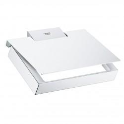 Держатель туалетной бумаги с крышкой Grohe Selection Cube 40781000