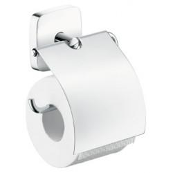 Держатель туалетной бумаги с крышкой Hansgrohe Puravida 41508000
