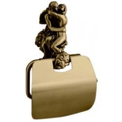 Держатель туалетной бумаги с крышкой Art&Max Romantic AM-0819-B