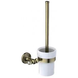 Туалетный ершик с колбой керамической Art&Max Antic Crystal AM-2681SJ-Br