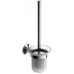 Туалетный ершик с колбой стеклянной Art&Max Bohemia AM-4281-Cr