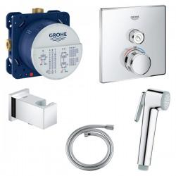 Душ гигиенический с термостатом 1 режим струи Grohe Grohtherm SmartControl 29123000-27512001