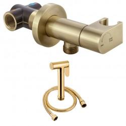 Душ гигиенический со смесителем 1 режим струи, комплект Adiante Pion AD-009BR-AD-6701BR бронза