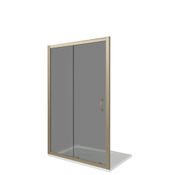 Душевая дверь в нишу раздвижная Bas Jazz WTW-110-G-BR (бронза)