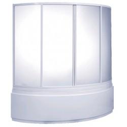 Шторка на ванну раздвижная Bas Алегра 150x145 (пластик)
