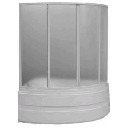 Шторка на ванну раздвижная Bas Алегра 150x145 (стекло)