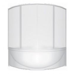 Шторка на ванну раздвижная Bas Дрова 160x145 (пластик)