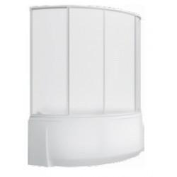 Шторка на ванну раздвижная Bas Фэнтази 150x145 (пластик)