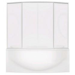 Шторка на ванну раздвижная Bas Фиеста 195x145 (пластик)