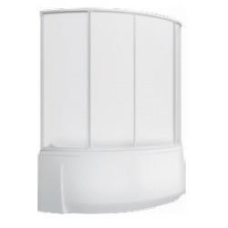 Шторка на ванну раздвижная Bas Флорида 160x145 (пластик)