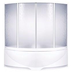 Шторка на ванну раздвижная Bas Империал 150x145 (пластик)