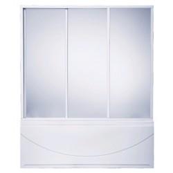 Шторка на ванну раздвижная Bas Кэмерон 120x145 (пластик)