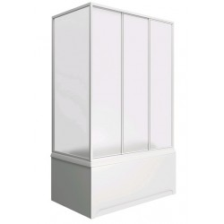 Шторка на ванну раздвижная Bas Лима 130x145 (пластик)