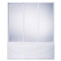Шторка на ванну раздвижная Bas Мальта 170x145 (стекло 3ств)