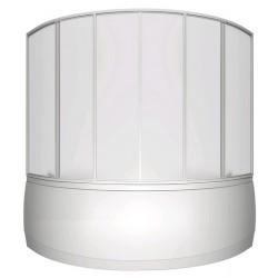 Шторка на ванну раздвижная Bas Мега 160x145 (пластик)