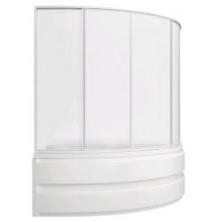 Шторка на ванну раздвижная Bas Сагра 160x145 (пластик)