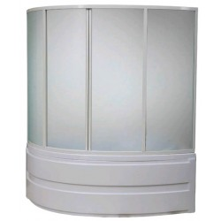 Шторка на ванну раздвижная Bas Сагра 160x145 (стекло)