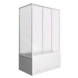 Шторка на ванну раздвижная Bas Стайл 160x145 (пластик)