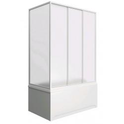 Шторка на ванну раздвижная Bas Тесса 140x145 (стекло)