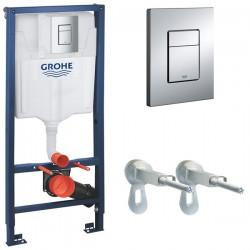 Инсталляция для унитаза подвесного Grohe Rapid Sl 38772001 (38772 001) кнопка хром глянцевый
