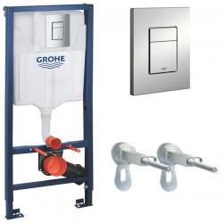 Инсталляция для унитаза подвесного Grohe Rapid Sl 38772P00 (38772 P00) кнопка хром матовый