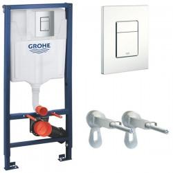 Инсталляция для унитаза подвесного Grohe Rapid Sl 38772SH0 ( 38772 SH0) (белая кнопка)