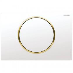 Кнопка для инсталляции для унитаза Geberit Sigma 10 115.758.KK.5 (115758KK5) белая-золото