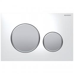 Кнопка для инсталляции для унитаза Geberit Sigma 20 115.882.KL.1 (115882KL1) белая-хром матовый