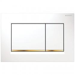 Кнопка для инсталляции для унитаза Geberit Sigma 30 115.883.KK.1 (115883KK1) белая-золото