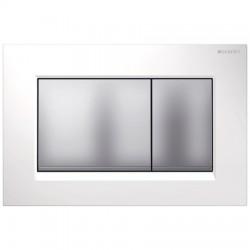 Кнопка для инсталляции для унитаза Geberit Sigma 30 115.883.KL.1 (115883KL1) белая-хром матовый