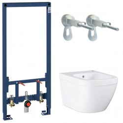 Комплект инсталляция и биде подвесное Grohe Rapid Sl Euro Ceramic 38553001-39208000 ( 38553)