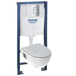 Инсталляция Grohe 38772001 в комплекте с унитазом безободковым Geberit Renova Premium 203070000 (500.800.00.1)