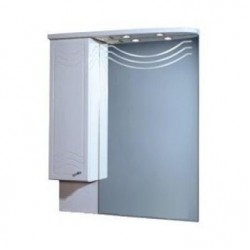 Шкафчик зеркальный 1 дверца распашная Акватон Домус 1.A001.0.02D.O01.L (1A001002DO01L)