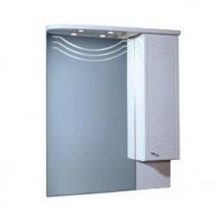 Шкафчик зеркальный 1 дверца распашная Акватон Домус 1.A001.0.02D.O01.R (1A001002DO01R)