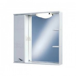 Шкафчик зеркальный 1 дверца распашная Акватон Аттика 1.A003.8.02A.T01.L (1A003802AT01L)