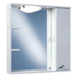 Шкафчик зеркальный 1 дверца распашная Акватон Аттика 1.A003.8.02A.T01.R (1A003802AT01R)