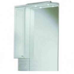 Шкафчик зеркальный 1 дверца распашная Акватон Майами 1.A047.5.02M.M01.L (1A047502MM01L)