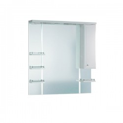 Шкафчик зеркальный 1 дверца распашная Aqwella Barselona Ba.02.10