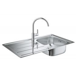 Мойка для кухни из нержавейки со смесителем Grohe K200 BauEdge 31562SD0