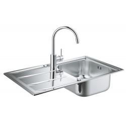 Мойка для кухни из нержавейки со смесителем Grohe K400 Concetto 31570SD0
