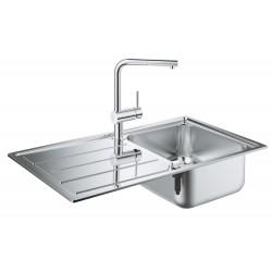 Мойка для кухни из нержавейки со смесителем Grohe K500 Minta 31573SD0