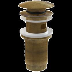 Сифон для раковины донный клапан Alca Plast Antic A392 (бронза)