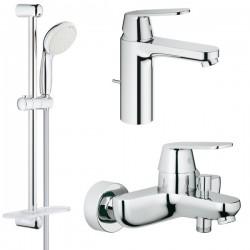 Комплект для ванной со смесителем Grohe Eurosmart Cosmopolitan 121656 (32831000,23325000,27926001)
