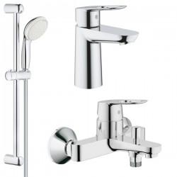 Комплект для ванной со смесителем Grohe BauLoop 121827 / 118105 (23341000,23337000,27598001)