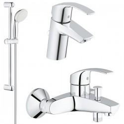 Комплект для ванной со смесителем Grohe Eurosmart 123570S (33300002,32467002,27853001)