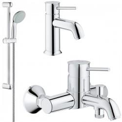 Комплект для ванной со смесителем Grohe BauClassic 124404 (32865000,23162000,27853000)