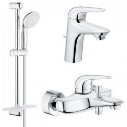 Комплект для ванной со смесителем Grohe Eurostyle New 124416-2L (23726003,23707003,27926001)