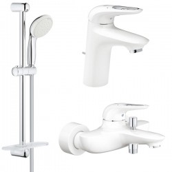 Комплект для ванной со смесителем Grohe Eurostyle New 124416-3-LS3 (33591LS3,33558LS3,27926001)