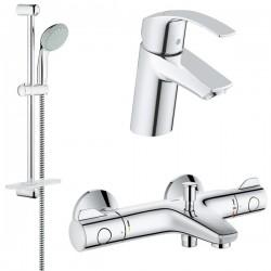 Комплект для ванной с термостатом Grohe Eurosmart Grohtherm 800 124422 (34567000,32467002,27926000)