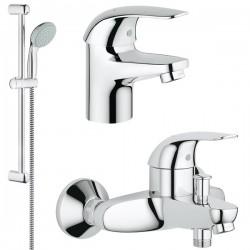 Комплект для ванной со смесителем Grohe Euroeco 124428 (32743000,32734000,27853000)